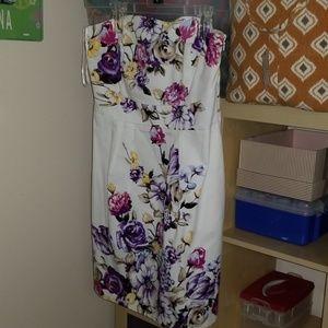 White House/Black Market strapless dress